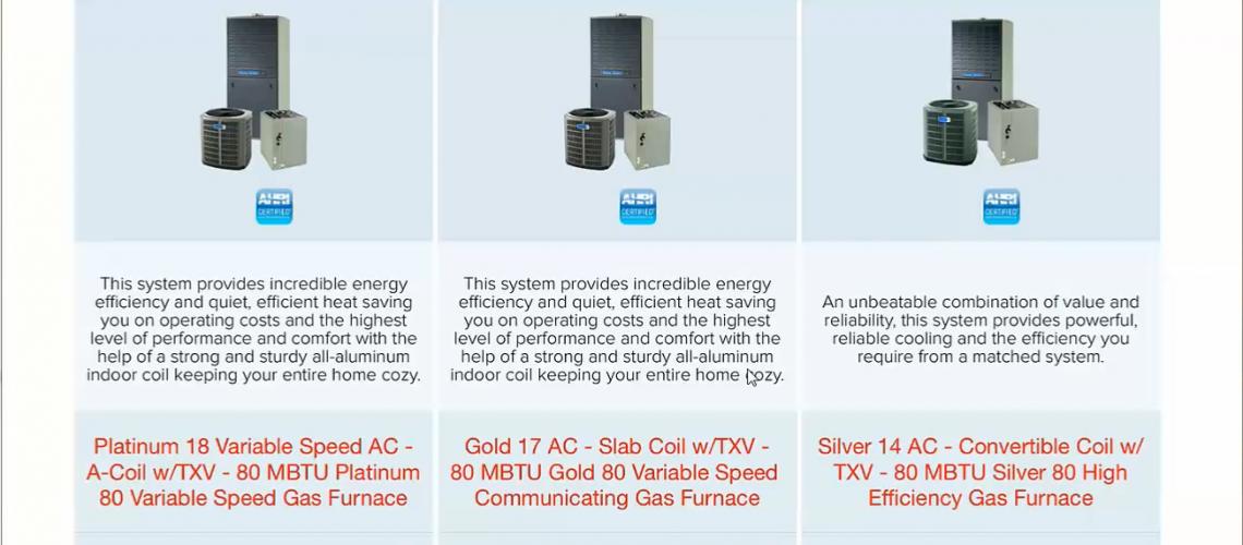 HVAC Equipment Proposals Ipad app